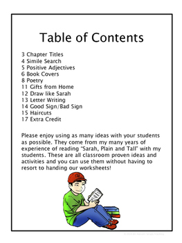 Sarah, Plain and Tall: 10 Things to do Without Worksheets
