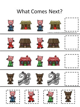 10 Three Little Pigs themed preschool games and worksheets