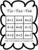10 Tic-Tac-Toe Addition Games- Color and BW!
