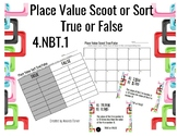 10 Times More/ Less Place Value Scoot or Sort