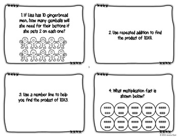 10 Times Table Task Cards
