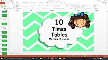 Multiplication 10 Times Tables Game / Brain Break