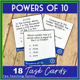 Powers of 10 and the Value of a Digit: Task Card Activity
