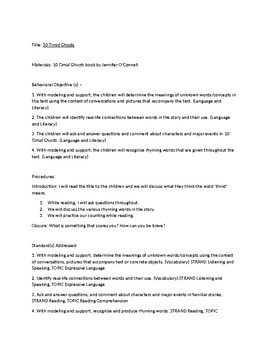 10 Timid Ghosts Lesson Plan