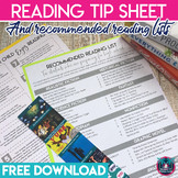 Reading for Pleasure Parent Handout and Summer Book Recommendations Lists