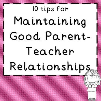 10 Tips for Good Parent-Teacher Relationships