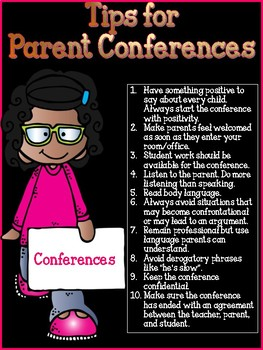 10 Tips for Parent Conferences