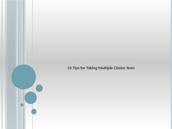 10 Tips for Taking Multiple Choice Tests