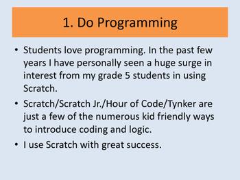10 Tips for Teachers to do Cool Sh*t (STEM)