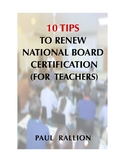 10 Tips to Renew Your National Board Certification