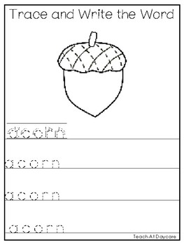 10 Trace and Write Letter A Words. Preschool-Kindergarten Handwriting & Spelling