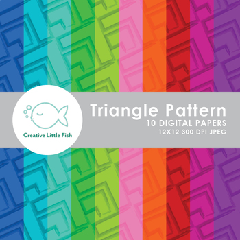 10 Triangle Pattern Digital Papers