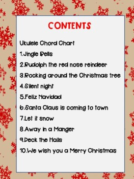 10 Ukulele Christmas Songs Chords By Kms Life In Music Tpt