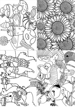 10 Unique Coloring Pages Relaxation Fine Motor Skills Practice