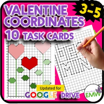 Valentines Day Math Activity Coordinate Task Cards