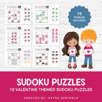 10 Valentine Sudoku Puzzles