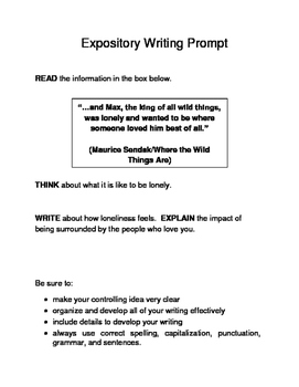 10 Valentine-Themed Expository Prompts Children's Literature 6th 7th Grades