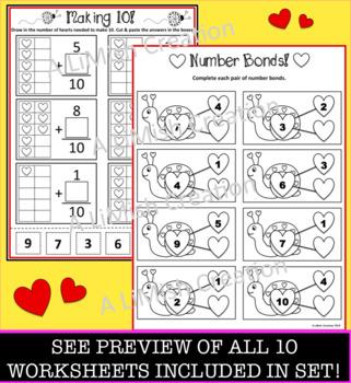 10 Valentine's Day Math Worksheets
