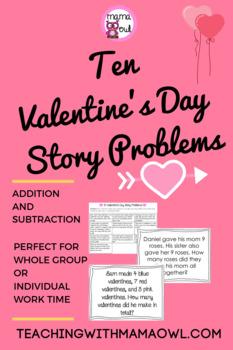 10 Valentine's Day Story Problems