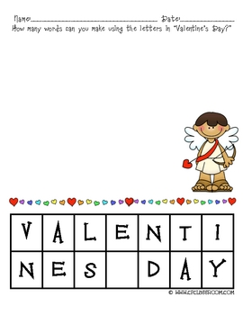10 Valentine's Day Math and Literacy Thematic Activities Grades K-3