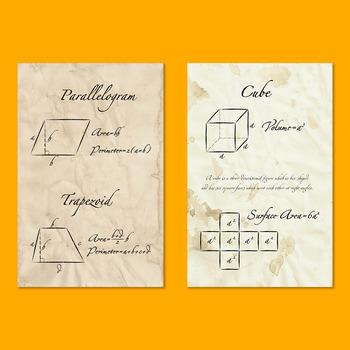 10 Vintage Mathematics Posters - Bundle Offer