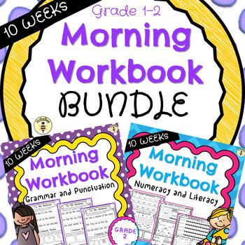 10 WEEK Morning Work Book Bundle Year 1 and 2