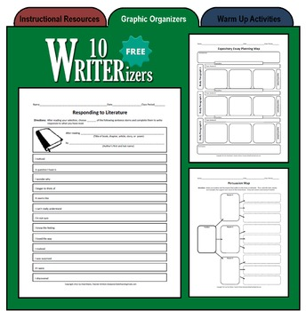 10 WRITERizers (Graphic Organizers for Planning and Writing)