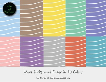 10 Wavy Background Papers  (FREE)