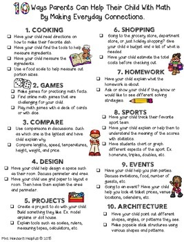 10 Ways Parents Can Help with Math