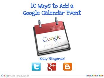 10 Ways to Add a Google Calendar Event