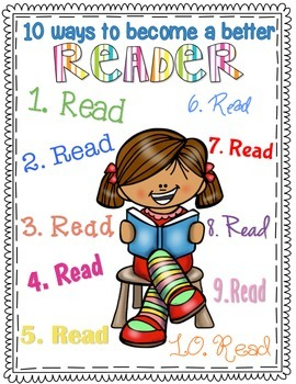 10 Ways to Become a Better Reader {FREEBIE}