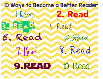 10 Ways to Become a Better Reader Poster