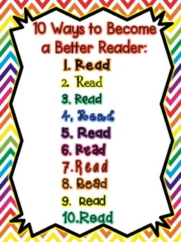 10 Ways to Become a Better Reader Signs