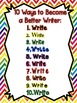 10 Ways to Become a Better Writer Signs