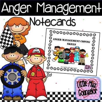 Anger Management 10 Ways to Cool Down: Coping Skills Notecards