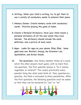 10 Ways to Help with Vocabulary Instruction