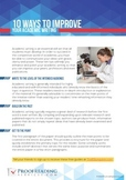 10 Ways to Improve Your Academic Writing
