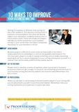 10 Ways to Improve Your Business Writing