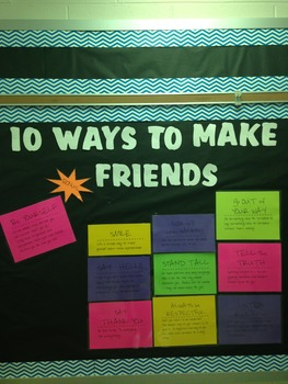 10 Ways to Make Friends Bulletin Board
