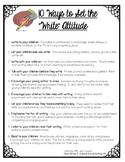 "10 Ways to Set the ""Write"" Attitude {Parent/ Teacher Conference Handout}"