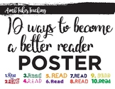 10 Ways to be a Better Reader Poster