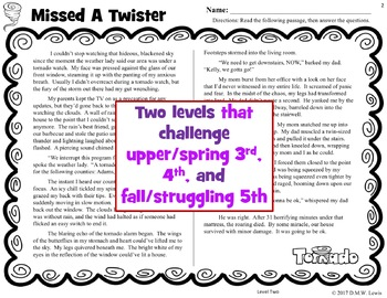 10 Weather Reading Comprehension Passages: Fall Reading Comprehension