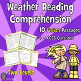 10 Weather Reading Comprehension Passages: Close Reading T