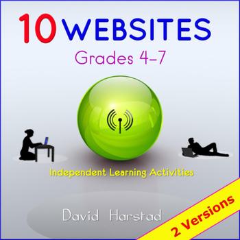 Webquests: 10 Printable Worksheet Activities (Grades 4-7)