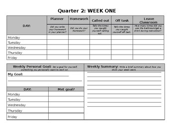10 Week Student Data & Goal Packet