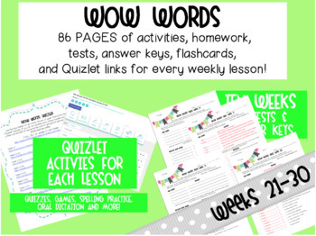 10-Week VOCAB Unit: 7th Grade Weeks 21-30