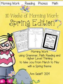 10 Weeks of Morning Work: Spring Edition