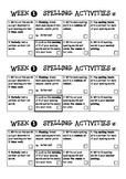 10 Weeks of Spelling Activities