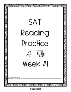 10 Weeks of Standardized Testing Practice Bubble Sheet & Cover Sheets