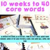 AAC Core Vocabulary 10 Weeks to Communicating with 40 Core
